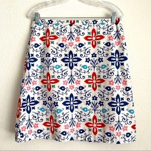 Boden A line floral casual skirt